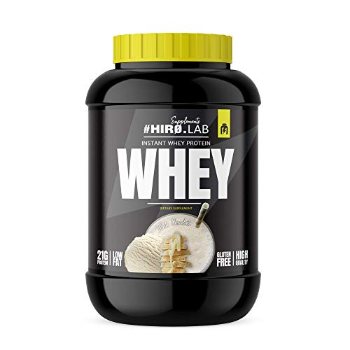 Hiro.Lab Instant Whey Protein 2000g - Whey Protein Concentrate Powder - Shake for Muscle Mass - Gluten Free - Low Fat (White Chocolate)