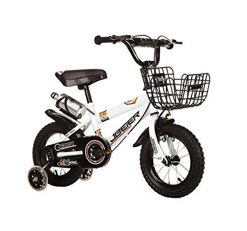 Kinderfahrräder Biciclette per Bambini, Bambini 4-6-8-11 Anni Ragazzi e Ragazze 14.12.16.18 Pollici Mountainbike (Farbe: Bianca, Größe: 12 Pollici)