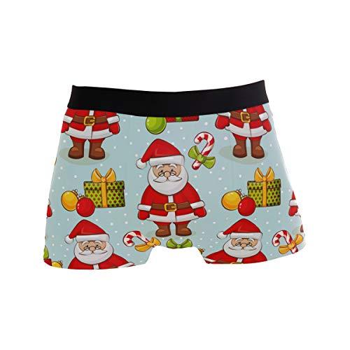 FANTAZIO mannen Boxer korte kerst kerstman mannen ondergoed