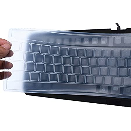 HomLand Universal Silicone Desktop Computer Keyboard Cover Skin Protector Film Cover for Home