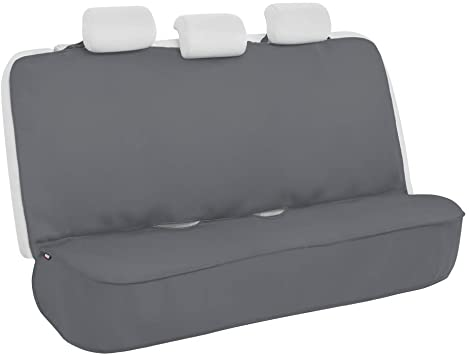 Motor Trend AquaShield Gray Waterproof Rear Bench Car Seat Cover – Neoprene Padded Back Seat Cover for Cars, Ideal Car Seat Cover for Kids Dogs, Universal Fit Design for Auto Truck Van SUV: image