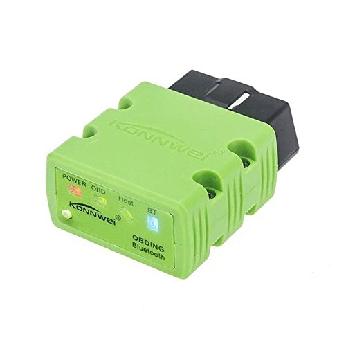 KONNWEI KW902 Mini ELM327 Bluetooth Wireless OBD-II OBD2 Car Auto Diagnostic Scan Tools Compatible with Android & Windows PC (Green)