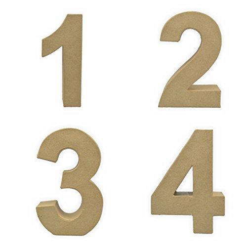 Pappzahlen 1-2 - 3-4 17,5 x 5,5 cm