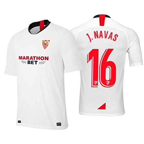 S&K Sports Camiseta Jesus Navas Sevilla Blanco,Camiseta Jesus Navas 2019/20 para Hombre & Niño