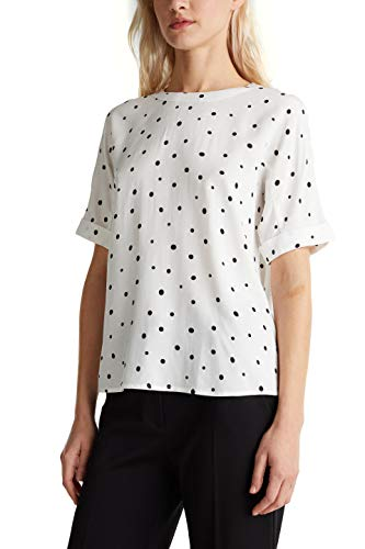 ESPRIT Collection Damen 040EO1F302 Bluse, Off White 4 (113), 38