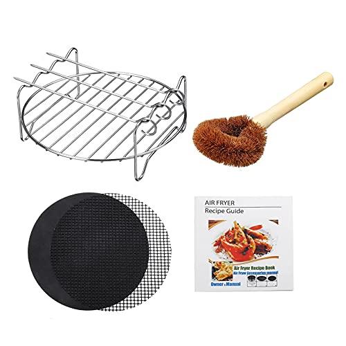 Accesorios para Freidora de Aire Accesorios De Rack De Freidor De Aire para Gowise Power Airfryer Cozyna Chefman BBQ Grill para Cocina Casera (Color : Silver, Size : 4 PCS)