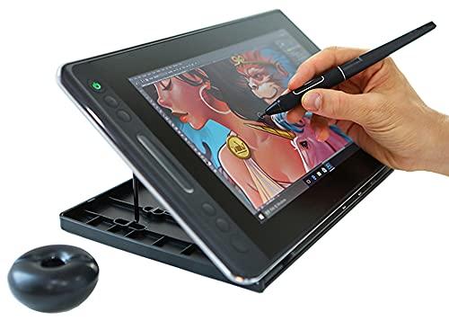Xyfw Tableta Gráfica Digital, Monitor De Tableta Digitalizadora, 8192 Niveles 120% Srgb Soporte De Inclinación Gráficos Lápiz De Dibujo Monitor De Pantalla con Teclas De Presión