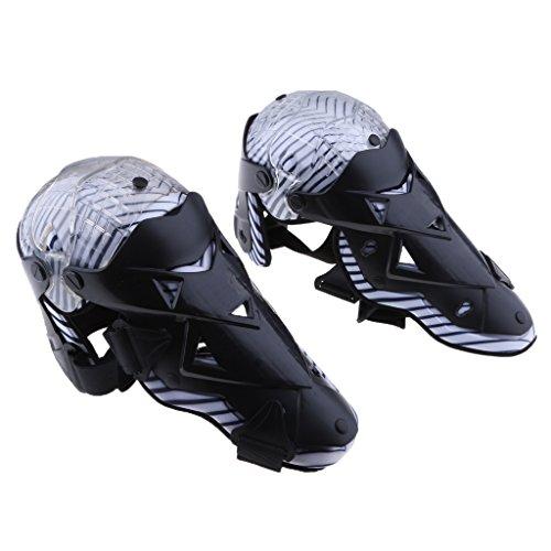 Sharplace 1 Paire Genouillères Protège-Genou Protecteur Garde de Genou Tibia Ajustable Équipement Protection Motard Moto - Noir, 42 x 14 cm