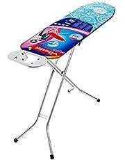 Vileda Universal - Tabla de planchar plegable, pequeña y estable, soporte resitente para plancha, con altura regulable, medidas: 110 x 30 cm, color azul