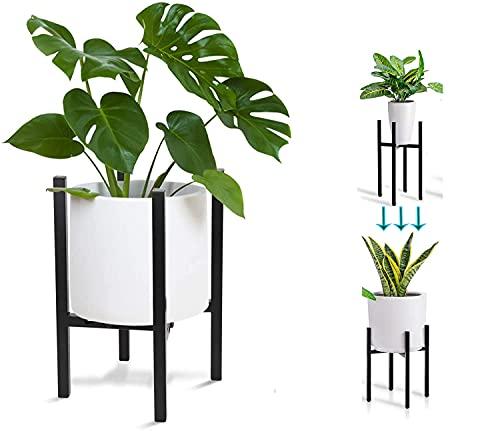MOMSIV Soporte Ajustable para Plantas,Moderno Soporte para macetas, para Interiores y Exteriores...