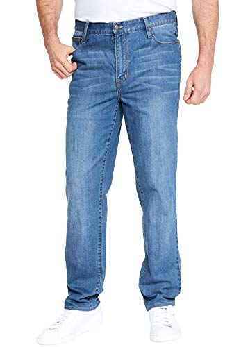 Liberty Blues Men's Big & Tall Relaxed-Fit Stretch 5-Pocket Jeans - Big - 72 38, Blue Wash