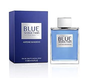 Antonio Banderas Perfumes - Blue Seduction - Eau de Toilette Spray for Men - Woody Fresh Oriental Aromatic Fougère Fragrance - 6.7 Fl Oz