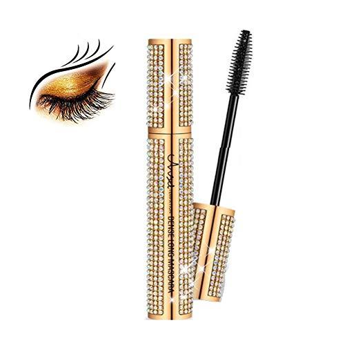 WGXY Mascara Naturel imperméable et épais Allongement Mascara Lash Fibre pour Les Yeux sensibles Lashes Defines maculage Cils Noir Long Lasting,d'or