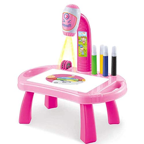 N\ A Projection Painting Learning Machine Learning to Draw & Learning Desk Toy Suitable for Children 3, 4, 5 Year Olds Boys & Girls Pink