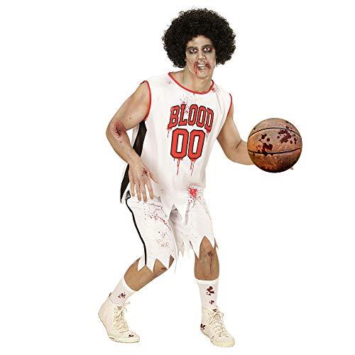 WIDMANN-Disfraz para Adulto Jugador de Baloncesto de Zombie, Color Gris, Blanco, Extra-Large (73364)