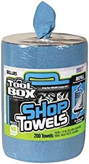 Sellars Toolbox Blue Shop Towels, Big Grip Bucket Refill, 200 ct. Shop Towel Refill