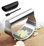 Best Garlic Presses - Garlic Press Crusher Stainless Steel Kitchen Garlic Presses Review