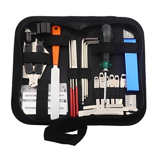 Guitar Tool Kit Repairing Maintenance Tools String Organizer String Action Ruler...