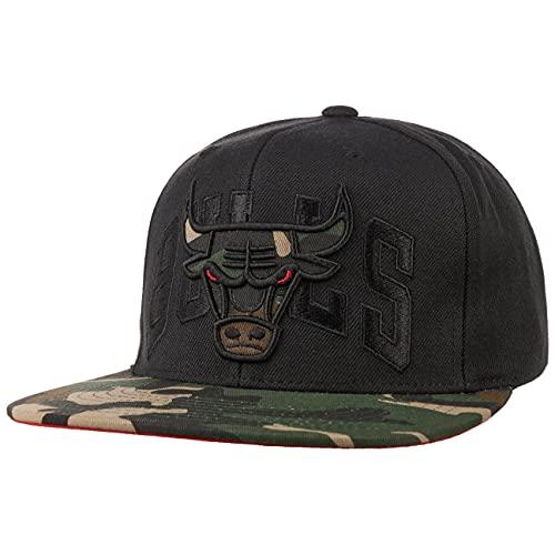 Mitchell & Ness Cappellino Camo Brim Bulls Baseball cap Cappello Hiphop Taglia Unica - Nero