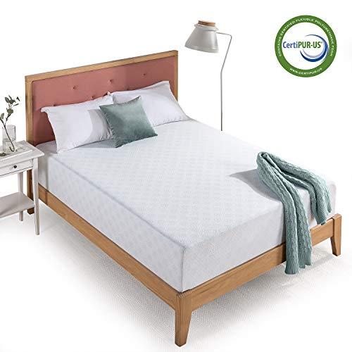Top 10 Best Mattresses for Adjustable Beds Reviews - Zinus 12-Inch Gel-Infused Green Tea Memory Foam Mattress
