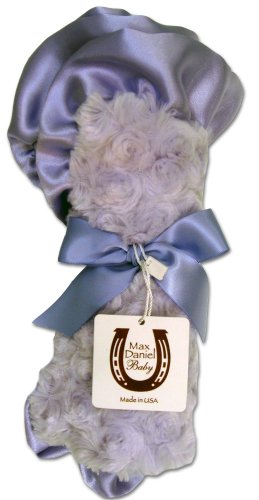 Max Daniel Baby Rosebuds and Satin Security Blanket - Lavender