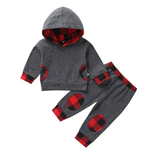 Borlai Baby Hoodie Set Mode Lange Mouw Outfits Hoodie Top en Broek Tracksuit, 2 STKS