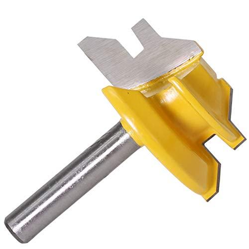 LUANAYUN-ENDMILL 45 grados Router Bit 1/4 pulgadas vástago carburo carpintería fresado herramienta fresado para madera