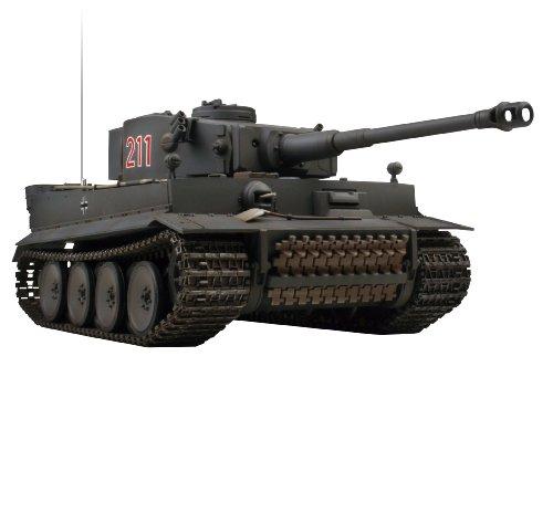 Extreem Hobby 1:24 German Tiger I RC Tank Early Production Vehicle, Gray