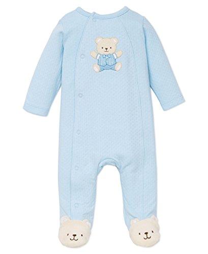 Little Me Baby-Boys Cute Bear Footie, Light Blue, Newborn