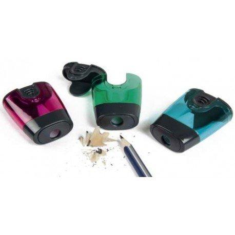 Liderpapel - Sacapuntas Plástico 1 Uso con Depósito