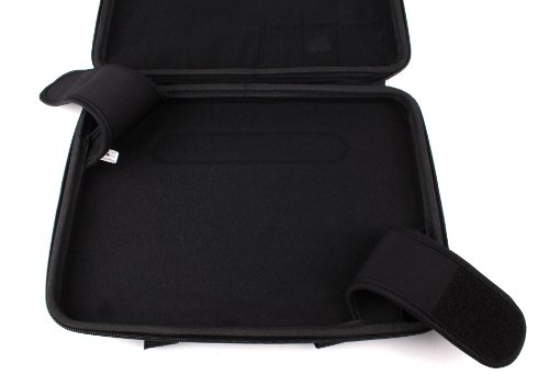 DURAGADGET langlebiges Classic Black und fest Schutzhülle mit Tragegriff für Lenovo S6000, Sony Xperia Tablet Z und Panasonic Toughpad FZ-G1
