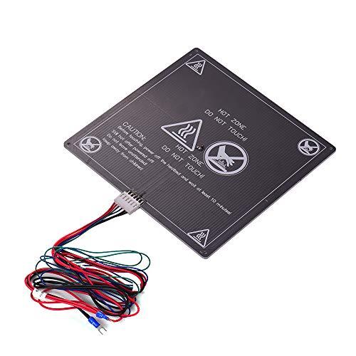 Aibecy Anet 3D Drucker Heizbett, Grundplatte Heizung Plattform Warmbett Aluminiumplatte mit Kabel Heißbett Draht für Anet A8 A6 A2 TRONXY P802M 3D Drucker Upgrade Lieferanten 12 V (1 stücke)