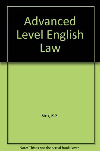 Advanced Level English Law