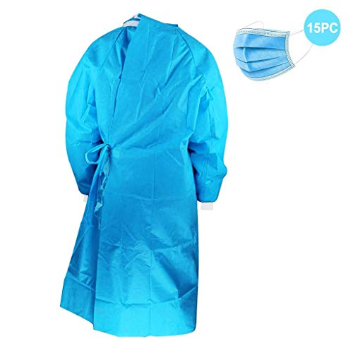 Best Buy! 【US Stock】Surgery Disposable Gown, Protective Gown ReUSable,Xlarge Disposable Gowns Fo...