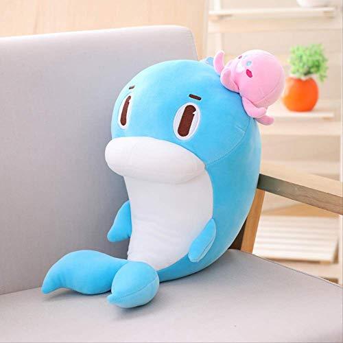 Pluche knuffels,New Ocean Aquarium Baby Knuffels Verjaardagscadeau Voor Kinderen Animal Dolphin Gift Surprise 38cm Blauw