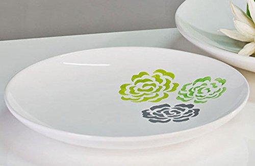 Deko bol 'fiore', 35 cm, blanc