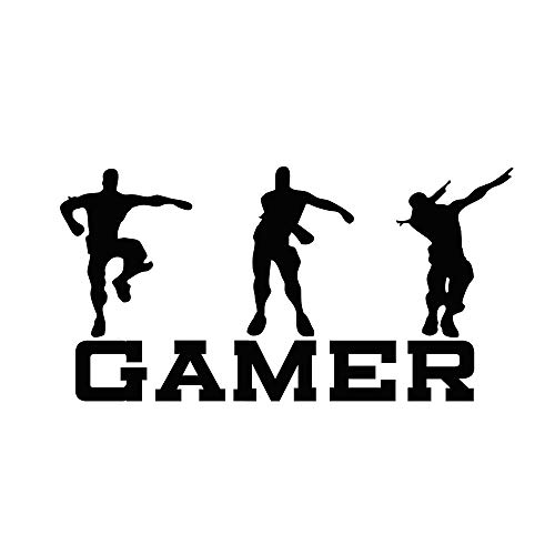 CHULAI Gamer Wall Decal, Game Wall Stickers Murals, Vinyl Art Design Gamers World Wall Decor for Teen Kids Boys Bedroom Playroom Home Decoration Wallpaper