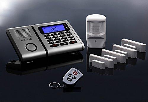 Premium Olympia Protect 6061 Drahtloses Alarmanlagen-Set mit 4 Tür-/Fensterkontakten und Bewegungsmelder