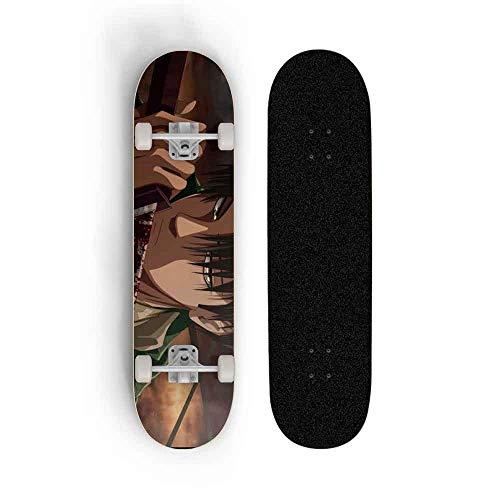 Kssmice Ataque en Titán: Eren Jaeger, Skateboard Principiante Niña Niños Skateboard Adulto...