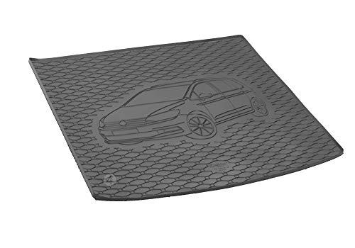 Passgenau Kofferraumwanne geeignet für VW Touran ab 2015 ideal angepasst schwarz Kofferraummatte + Gurtschoner
