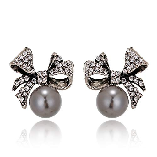 QYTSTORE Pendientes de Perlas de Perlas de Arco Retro de Moda y únicas Que imitan los Pendientes de Perlas, tamaño 2.2 * 2 cm, Femenino Accesorios para la Fiesta de Bodas Exquisito, de Moda