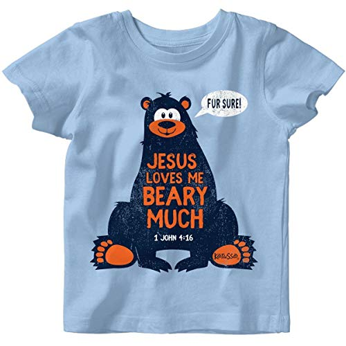 Kerusso Kids Jesus Loves Me T-Shirt -Light covid 19 (One Christian Toddler Shirt coronavirus)