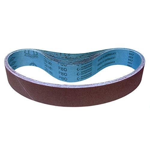 Klingspor CS 341 X Schleifband/Gewebe Schleifbänder wasserfest | 50 x 2000 mm (alle Maße) | 5 Stück | Körnung/Korn wählbar: P240