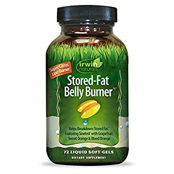 Irwin Naturals Stored-Fat Belly Burner Helps Breakdown Stored Fat 72 Count