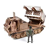 US Army M270A1 Multi Launch Rocket System – Vehicle Playset with Action Figure | Military Toy Missile Launcher Set for Kids – Elite Force