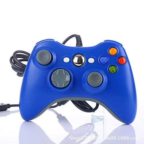 hyy 1 PC Consola De Juegos Control Remoto USB con Cable Gamepad para Windows 7/8/10 Joystick Controle,Blue