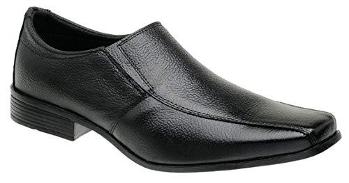 Sapato Social Masculino Preto Em Couro Solado PVC 06 CP (45)