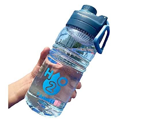 SDGSDG Protección del medio ambiente Botella deportiva sin BPA/Filtro exterior Copa de agua-Blue_2600ml/ Botella de agua deportiva para gimnasio, viajes, oficina y hogar