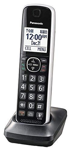 Panasonic Dect 6.0 Digital Additional Cordless Silver Handset for KX-TG885SK Cordless Phone System - KX-TGFA61B (Renewed)