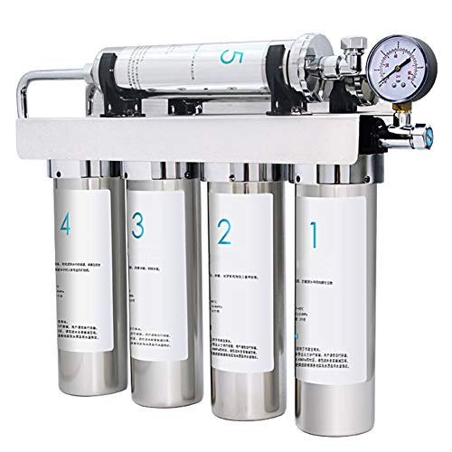 DMZH Rostfreier Stahl Wasserfilter 5-Stufig Wasserfiltrationssystem Umkehrosmose GL12-05 Trinkwasseraufbereiter Zum Milch Tee Kaffeestube